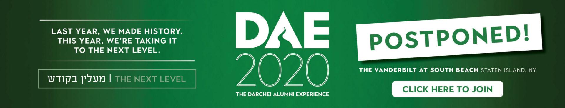 DT DAE2020 Postponed